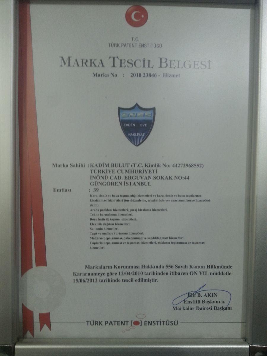 Enes Nakliyat patent